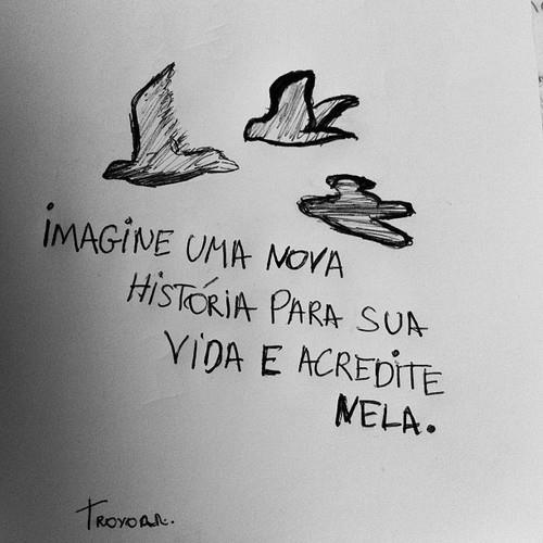 Imagine uma nova história